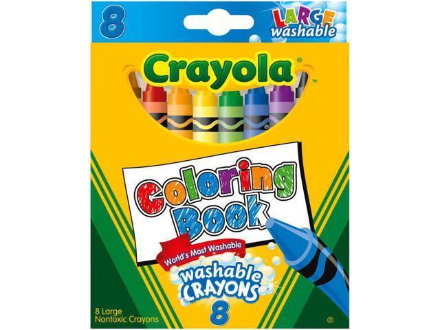 Crayola Coloring Book Washable Crayons-8/Pkg - Newegg.com