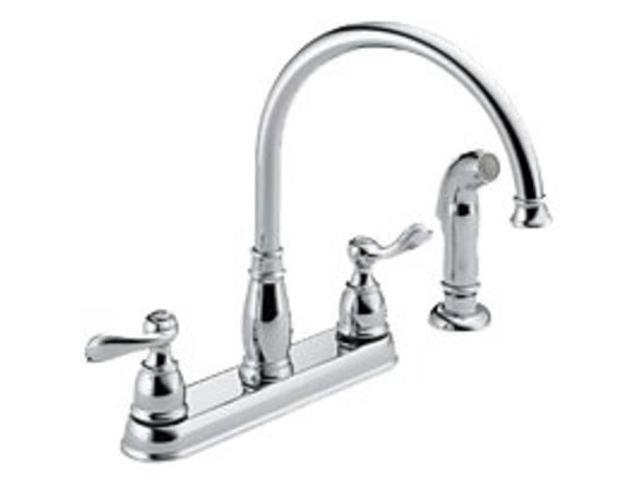 Two Handle Kitchen Faucet Delta Faucet Co Delta Kitchen Double Handle  21996LF - Newegg.com