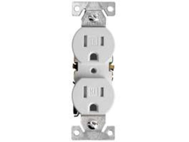 Receptacle Dpx 125V 15A 2P 4In COOPER WIRING Single Receptacles TR270W on