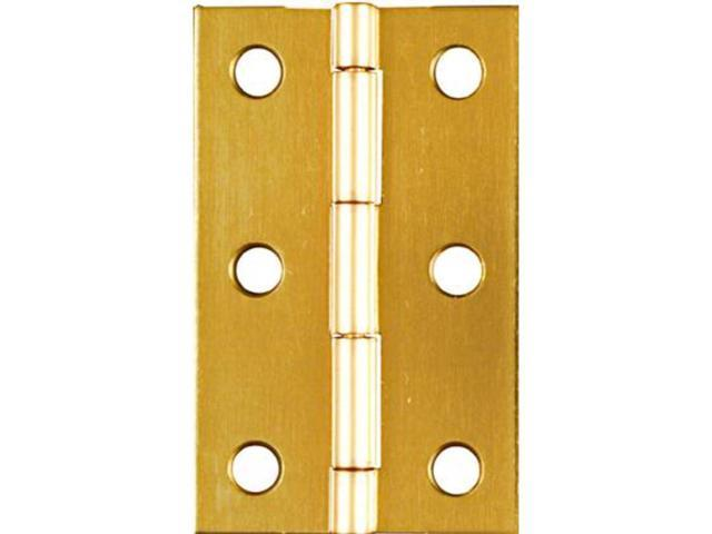"Pack of 2  2/"" UTILITY HINGES Security Doors Gates Storage Brass Plated Hardware"