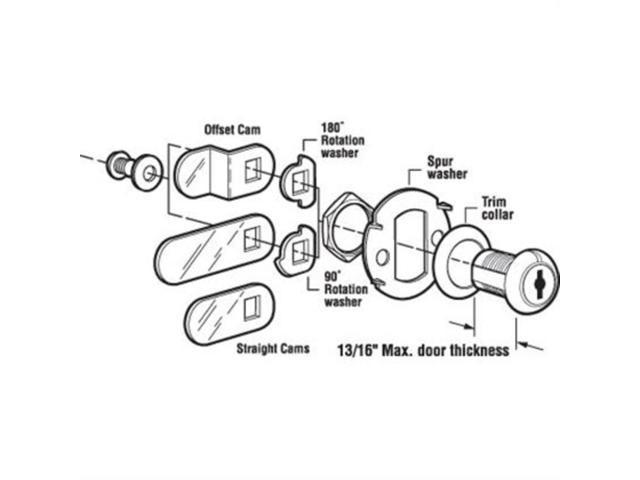 16 Drawer Cabinet Lock Brass Defender Security