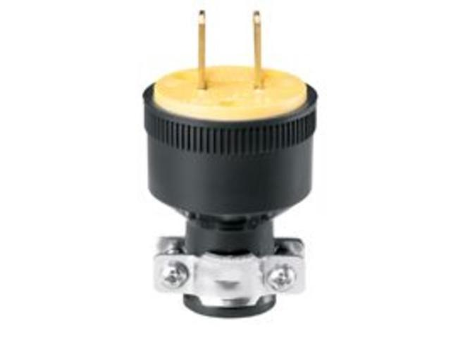 Black Rubber Round 2wire Plug Cooper Wiring Cord Ends Male 220v Bp1723 Newegg Com