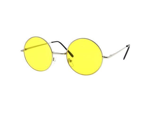 451c09ead5 Round Circle John Lennon Inspired Color Lens Sunglasses Tea Shades Yellow