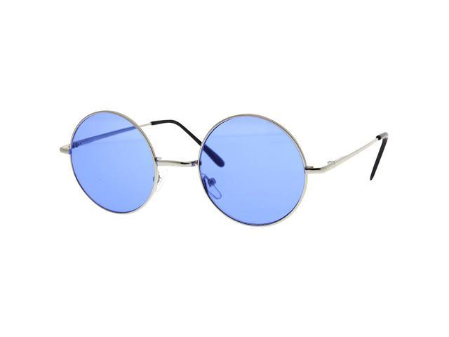 293b4c5859 Round Circle John Lennon Inspired Color Lens Sunglasses Tea Shades Glasses  Blue