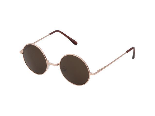 a71b6692715 Round Hippie Retro John Lennon Sunglasses Shades Classic Teashade Gold