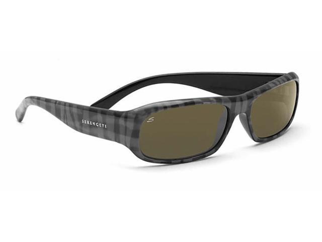 40f82fa6faf0 Serengeti Eyewear Sunglasses Genova 7450 Gray Plaid Polarized 555nm Lens