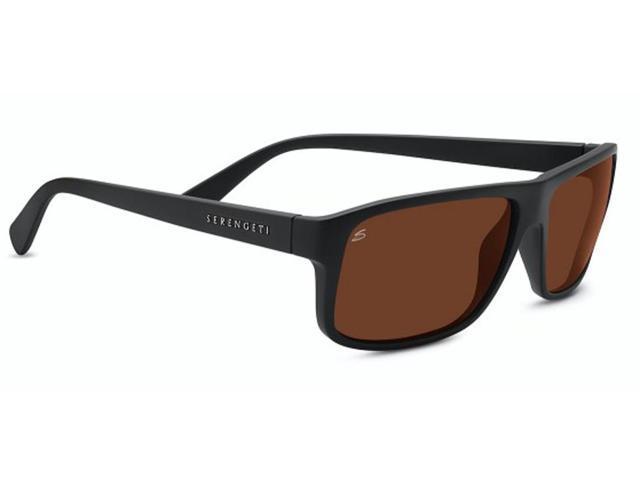 136d8cf2d83 Serengeti Eyewear Sunglasses Claudio Satin Black Polarized Drivers Lens 8436