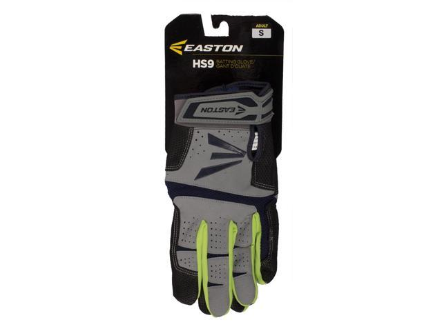 1 Pair Easton HS9 Neon Adult Medium Navy Optic Grey Batting Gloves A121837