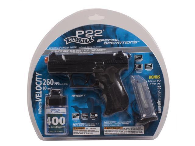 Umarex Walther P22 Airsoft Pistol Black 2272001 - Newegg com