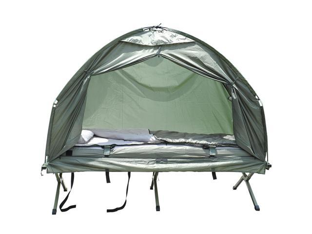 Outsunny Air Mattress Sleeping Bag Combo Pop Up Tent Cot