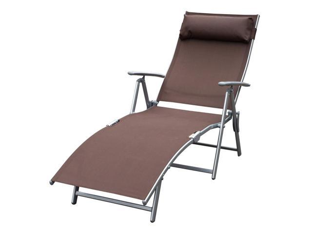Miraculous Outsunny Folding 5 Position Adjustable Patio Reclining Chaise Lounge Chair Newegg Com Ocoug Best Dining Table And Chair Ideas Images Ocougorg