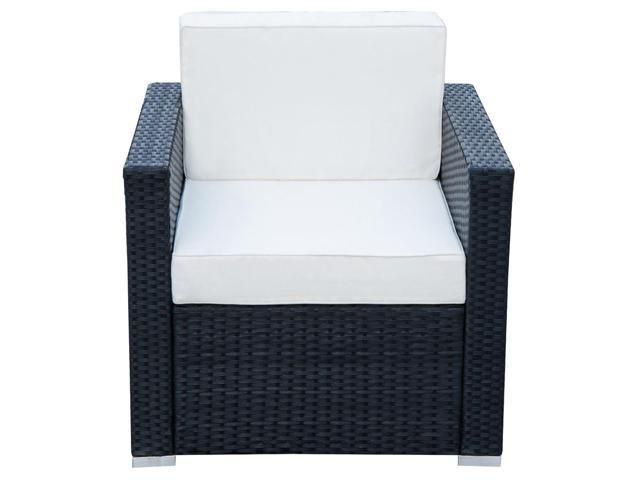 Amazing Outsunny Modern 4 Piece Cushioned Outdoor Rattan Wicker Sofa Sectional Patio Conversation Furniture Set Lamtechconsult Wood Chair Design Ideas Lamtechconsultcom