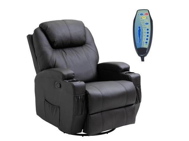 HOMCOM Luxury Faux Leather Heated Vibrating Massage Recliner