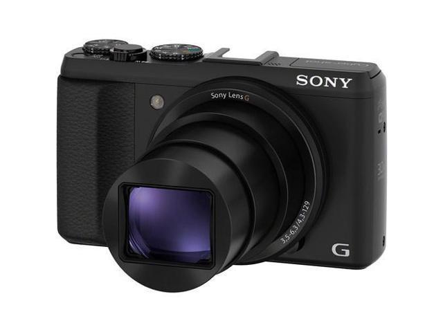 Sony Cyber Shot DSC HX50V B 20 Megapixel Digital Camera Bundle
