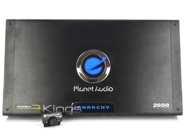 planet audio ac2600 2 anarchy full-range mosfet class ab amp (2 channels,  2,600 watts max)