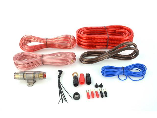 NEW 4 GAUGE 4G AMP AMPLIFIER WIRING KIT W/ RCA - Everything you need! What Wiring Kit Do I Need on