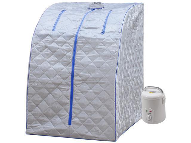 dd46cd8a38 Durherm Lightweight Personal Steam Sauna for Weight Loss, Detox &  Relaxation, 60 Minute Timer - Blue