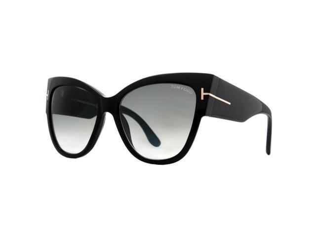 b4f70994f88f3 Tom Ford Anoushka TF 371 01B Black/Gray Gradient Women's Cat Eye Sunglasses