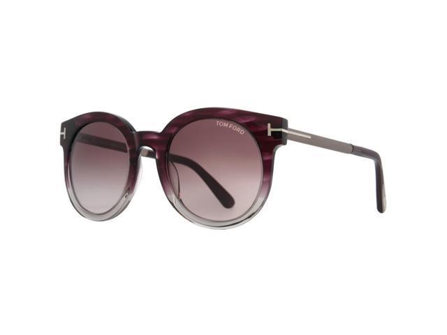 ad3cae3699b0 Tom Ford Janina TF 435 83T Clear Purple Cat Eye Women s Cateye Sunglasses