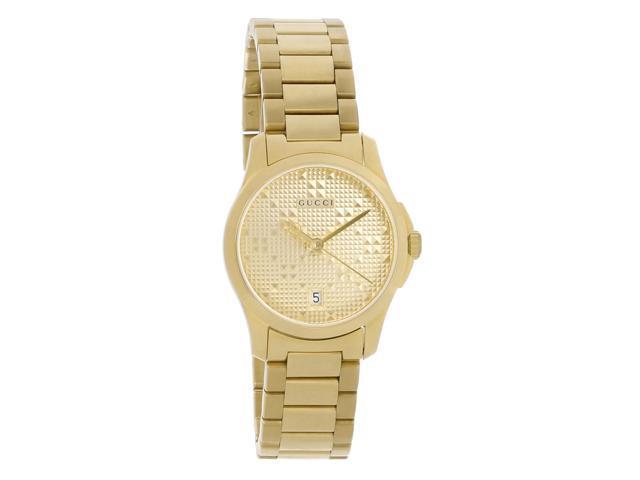 87bd5a1b262 Gucci 126 G-Timeless Ladies Champagne Dial Swiss Quartz Watch YA126553