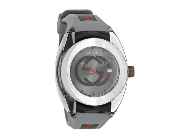 Gucci Sync XXL Gray Rubber Strap and Dial Quartz Watch YA137109