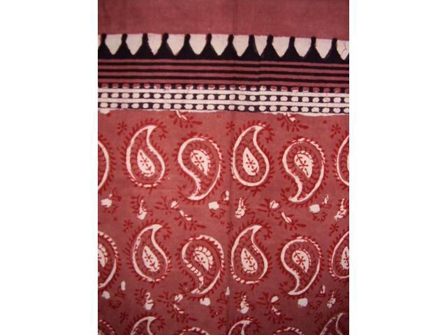 Block Print Paisley Curtain Drape Panel Cotton 46 Quot X 88