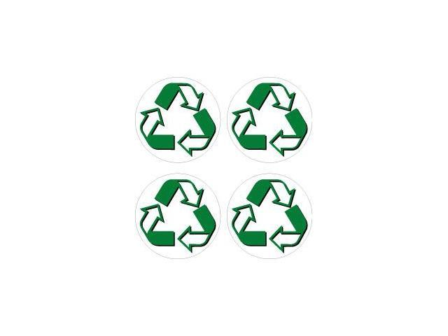Recycle Symbol Circle Sheet Of 4 Stickers 2 Width X 2 Height