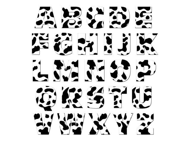 Alphabet Letters Uppercase Cow Print Animals Mag Neatostm Novelty