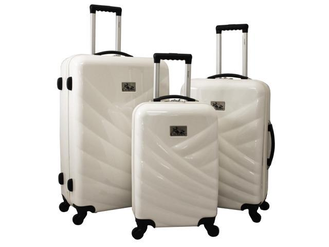 f7e1a2f4bfba Chariot Veneto 3-Piece Hardside Lightweight Upright Spinner Luggage Set -  White - Newegg.com