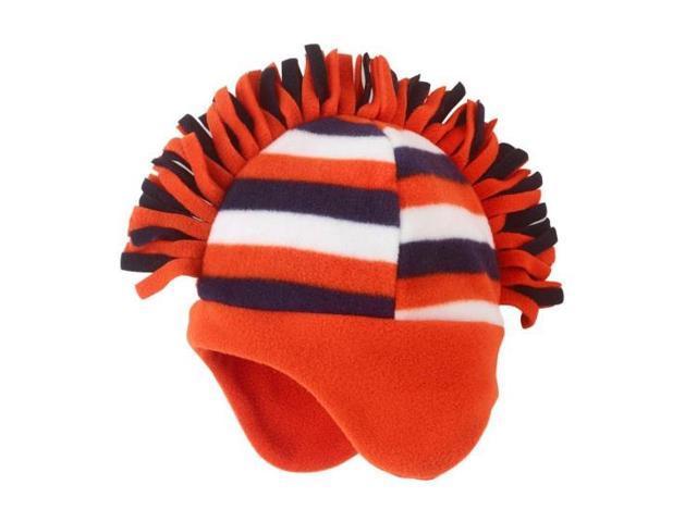5fd1e36c971 The Children s Place. CP Infant Boys Striped Orange Fleece Mohawk Style Trapper  Hat 12-24 Months