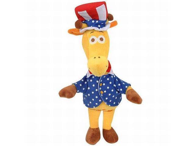 Plush 10 Inch Geoffrey Giraffe Stuffed Animal American Uncle Sam