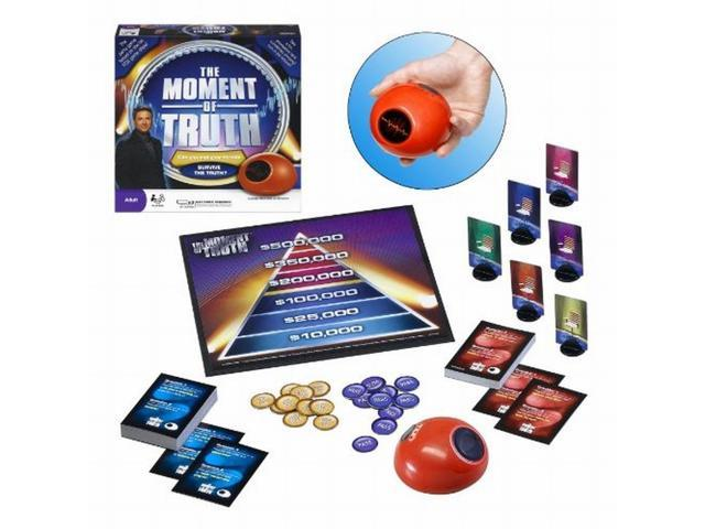 THE MOMENT OF TRUTH ADULT PARTY GAME w//ELECTRONIC BIOMETRIC LIE DETECTOR