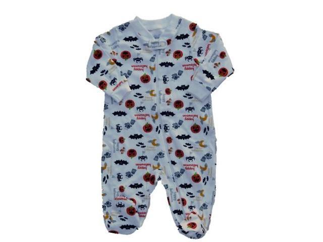faded glory infant boy girl halloween sleeper pumpkin pajamas baby ghost pj 0 3m