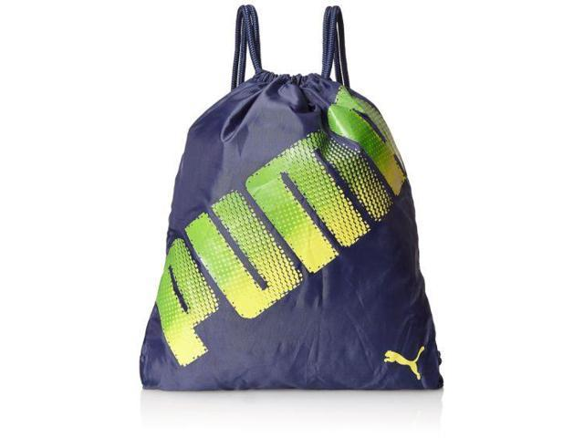 c0715cb3d1 Puma Stamped Carrysack Sack Pack Navy Blue   Green Cinch Bag Sackpack Tote