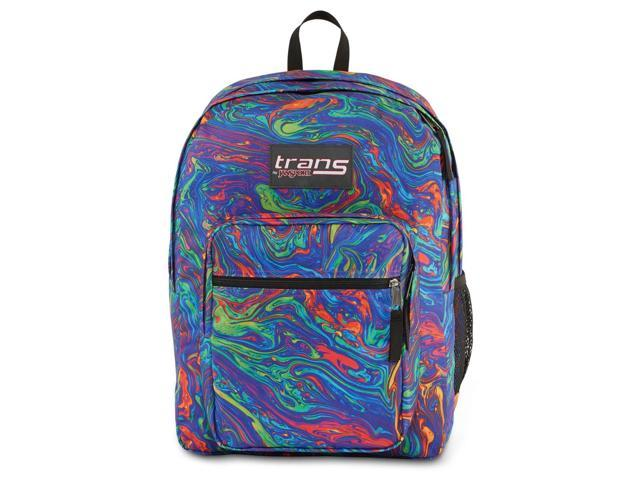 Trans by Jansport Supermax Multi Acid Rainbow Swirl Backpack School Travel  Pack - Newegg com