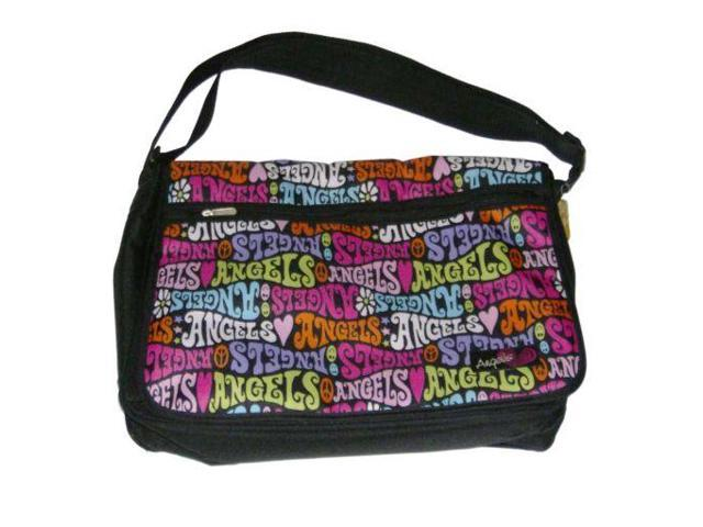 Angels So Sweet Colorful Messenger Bag Luggage Travel Tote Book Bag ...
