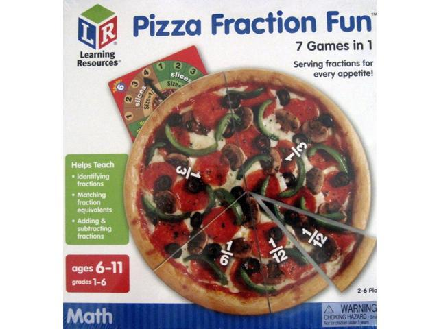 Learning Resources Pizza Fraction Fun Game 7 Games in 1 Math - Newegg com