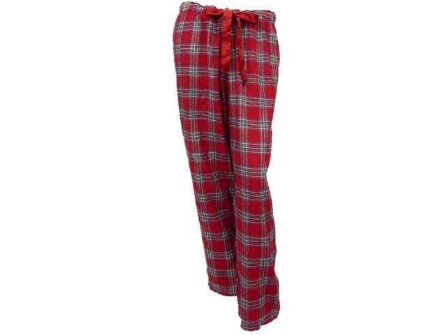 Covington Womens Red Plaid Flannel Sleep Pants Pajama Bottoms