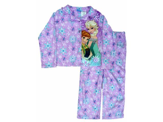 2f587a131ff5 Disney Frozen Girls 2 PC Elsa Anna Purple Pajamas Top Bottoms ...