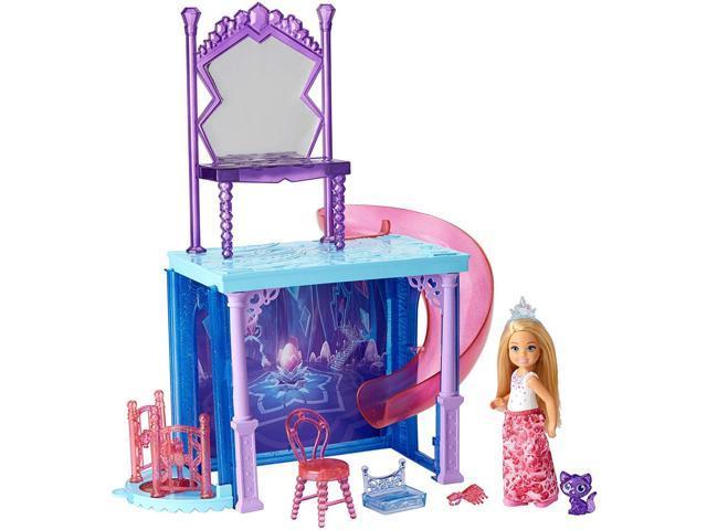 Barbie Dreamtopia Chelsea Doll And Vanity Playset With Slide Elevator Newegg Com