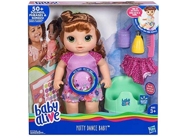 Baby Alive Potty Dance Baby Doll With 50 Sounds Phrases Red Hair Newegg Com