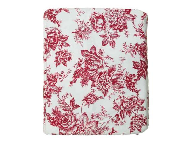 Bee Willow Red Floral Toile Full Flannel Sheet Set Bed Sheets Newegg Com