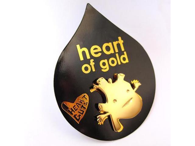 Heart Of Gold Lapel Pin Feel The Beat I Heart Guts - Newegg com