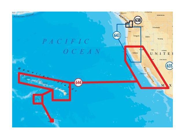 Map Of California And Hawaii.Navionics Platinum Plus Baja California And Hawaii Marine Map Newegg Ca