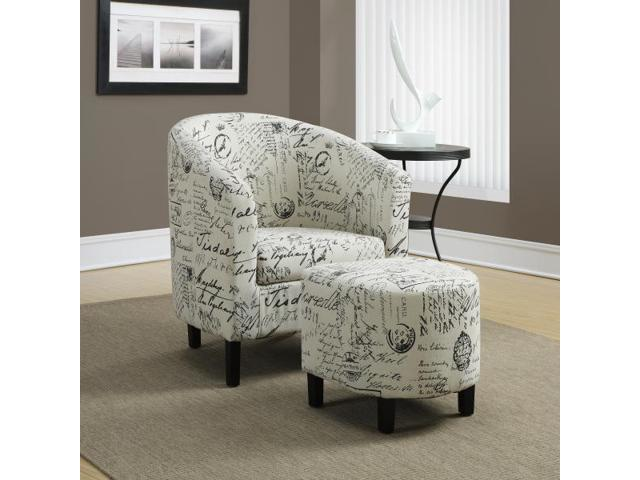 Miraculous Monarch Specialties Vintage French Fabric Accent Chair And Ottoman I 8058 Inzonedesignstudio Interior Chair Design Inzonedesignstudiocom