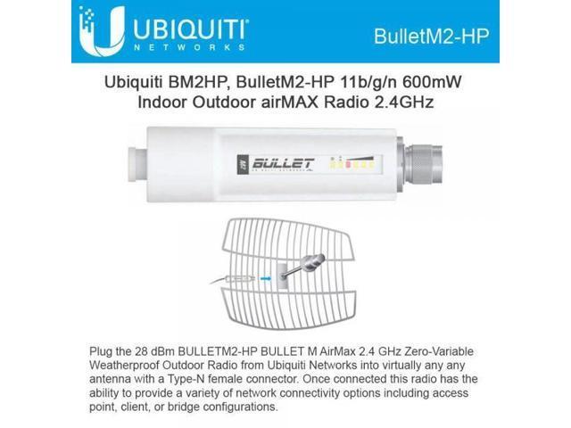 Ism Band Ubiquiti Bullet Bulletm2-hp Ieee 802.11n 100 Mbps Wireless Bridge