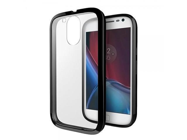reputable site c6987 b7105 Moto G4 / G4 Plus Case, Cimo [Hybrid] Premium Clear Back Panel + TPU Bumper  Case for Motorola Moto G 4th Generation / Moto G Plus (2016) - Black - ...