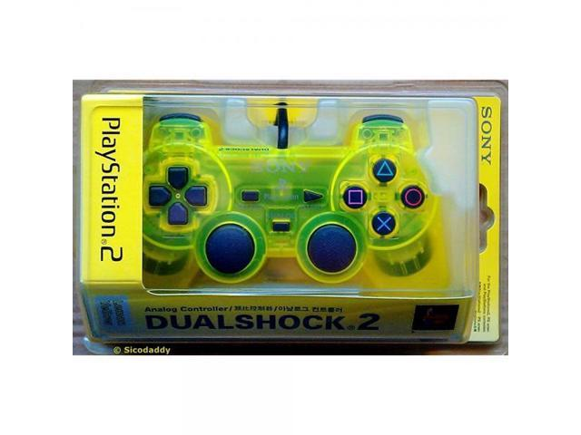 PS2 DualShock 2 Controller Lemon Yellow - Newegg com