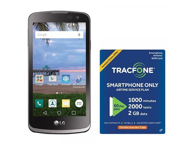 super popular d4046 e589b TracFone LG Rebel 4G LTE Prepaid Smartphone with Amazon Exclusive Free $40  Airtime Bundle - Newegg.com
