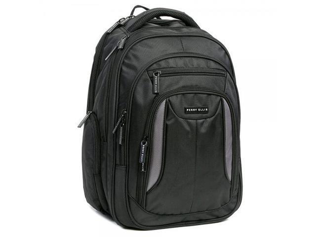Black Perry Ellis M160 Business Laptop Backpack